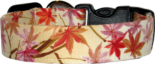 Japanese Maples Handmade Dog Collar