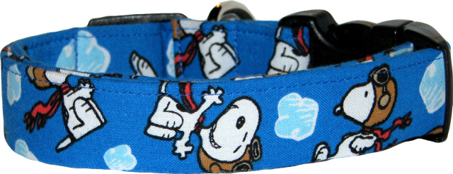 Red Baron Famous Cartoon Dog Collar