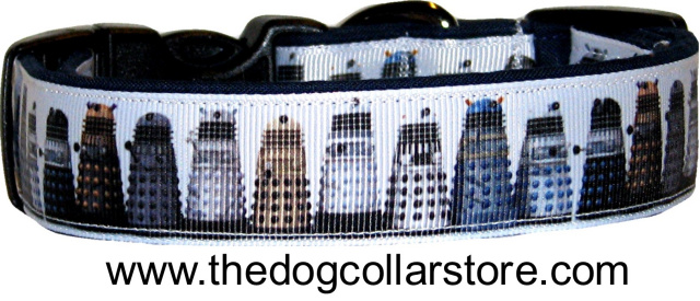 Doctor Who Daleks Ribbon Dog Collar