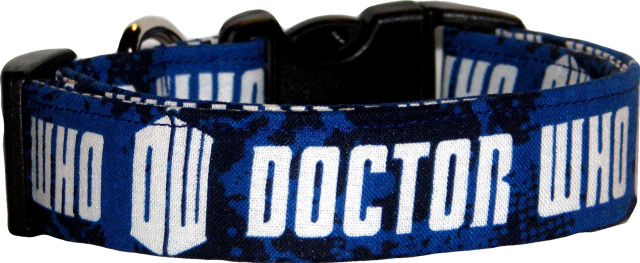 Doctor Who Handmade Dog Collar