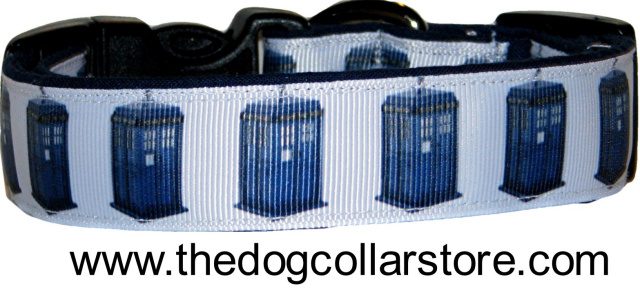 Doctor Who TARDIS Ribbon Dog Collar