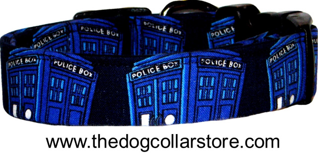 Doctor Who TARDIS Police Box Dog Collar