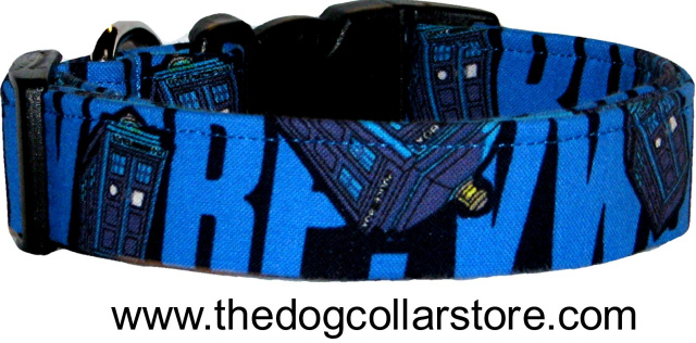 Flying TARDIS Doctor Who Dog Collar