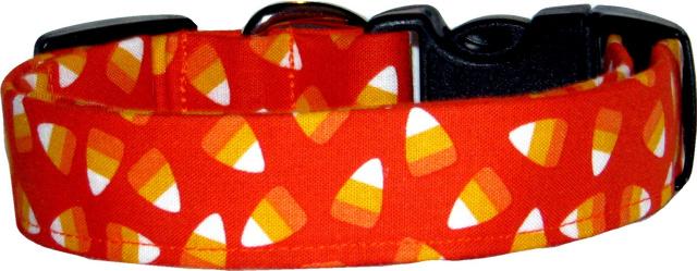 Orange Candy Corn Dog Collar