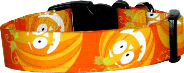 Big Orange Jack O'Lanterns Dog Collar