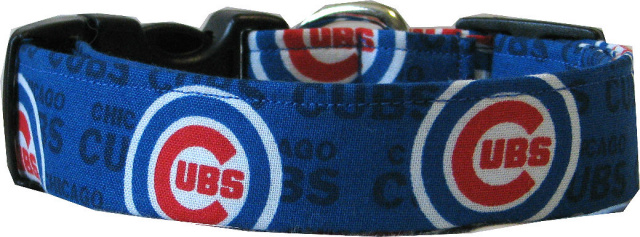 Mini Chicago Cubs  Dog Collar