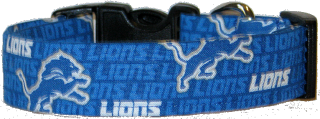 Mini Detriot Lions  Dog Collar