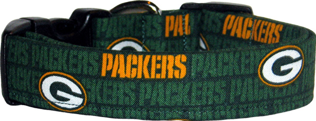 Green Bay Packers Mini Logo Dog Collar