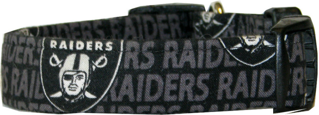Mini Oakland Raiders  Dog Collar