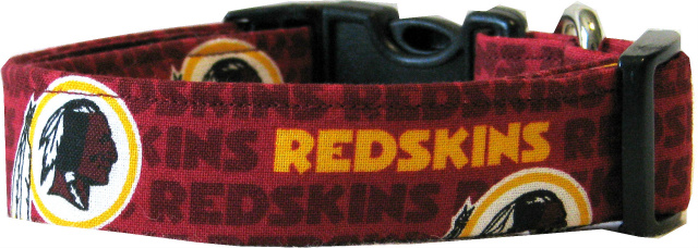 Mini Washington Redskins Dog Collar