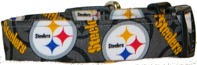 Mini Pittsburgh Steelers Dog Collar