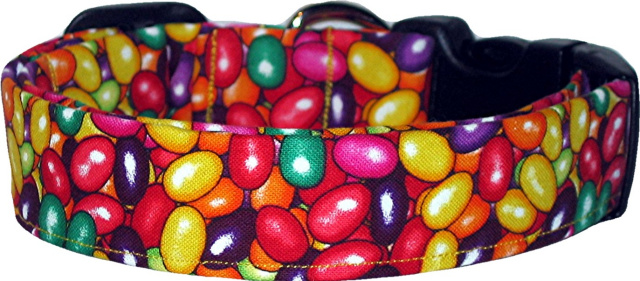 Vibrant Jelly Beans Handmade Dog Collar